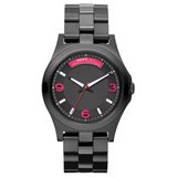 Marc by Marc Jacobs MBM3165 Women's Baby Dave Black Dial Black IP Steel Bracelet Watch