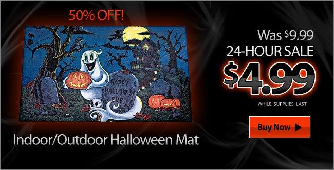 Indoor/Outdoor Halloween Mat