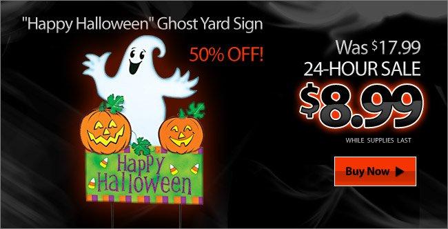 Happy Halloween Ghost Yard Sign