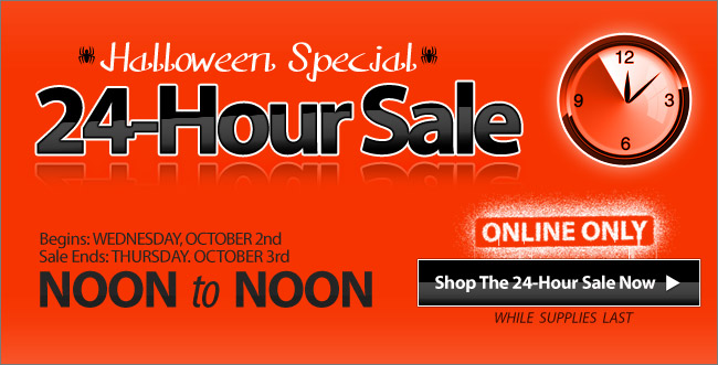 24 Hours Only - 50% Off 5 Halloween Items - Shop Now