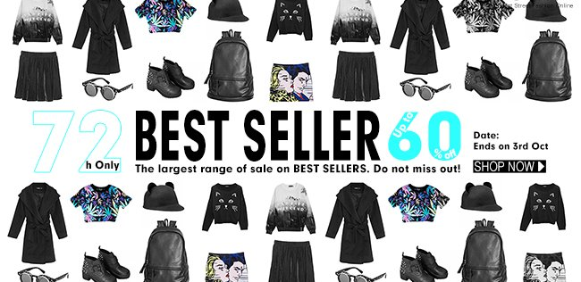 Up to 60% Off Flash Sale on Best-sellers