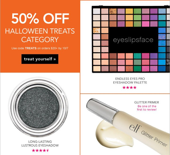 A Scary Good Deal! 50% OFF Halloween Treats Category - Code: TREATS - shop now