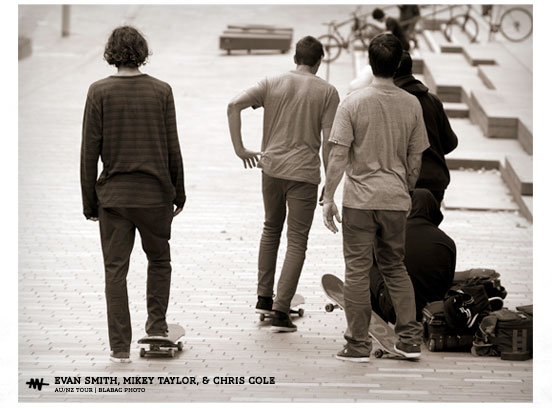 Evan Smith, Mikey Taylor and Chris Cole