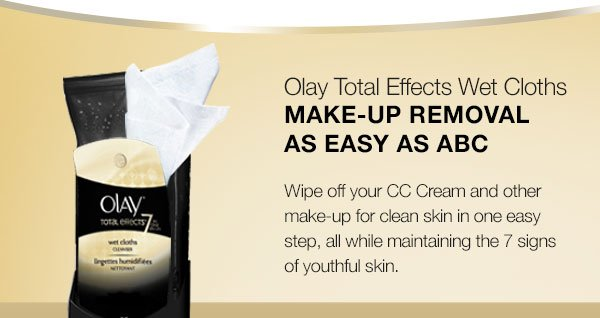 Olay Total Effects Wet Cloths Make-Up Removal as easy as ABC