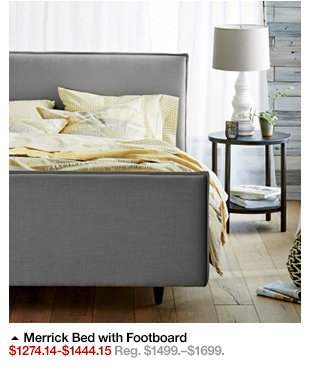 crate and barrel: ends today: 15% off beds, nightstands and