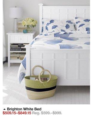 Brighton White Bed $509.15-$849.15 Reg.  $599.-$999.