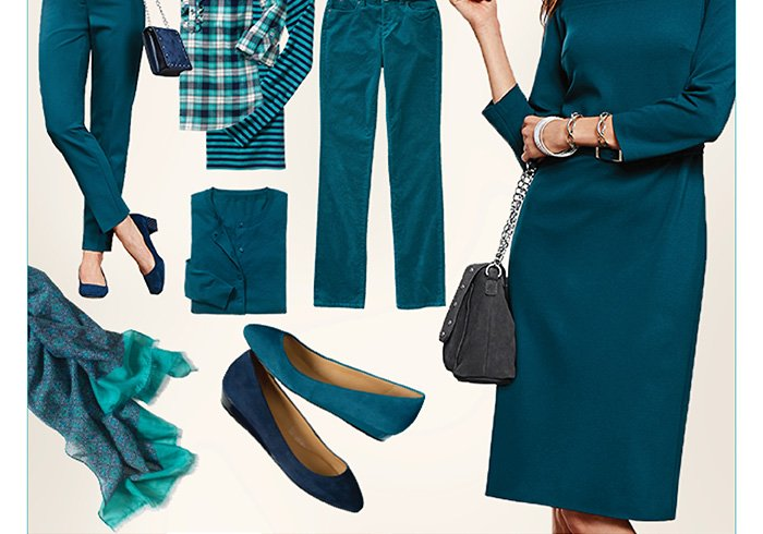 Totally Teal. Go head to toe in our favorite color. Shop Teal.