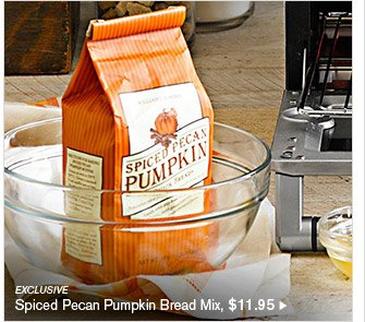 EXCLUSIVE - Spiced Pecan Pumpkin Bread Mix, $11.95