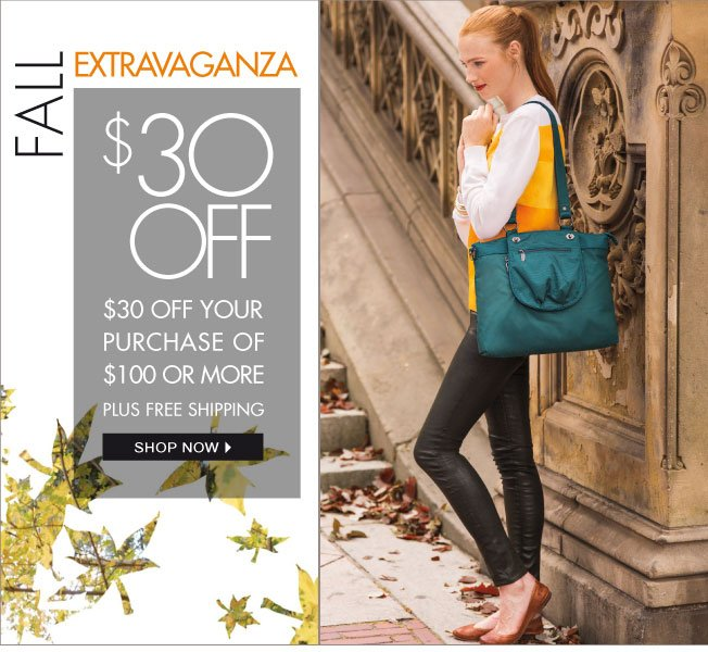 $30 off $100! Fall Extravaganza!