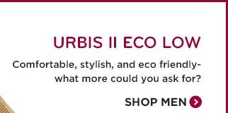 URBIS II ECO LOW. Comfortable, stylish, and eco friendly - what more could you ask for? Shop Men