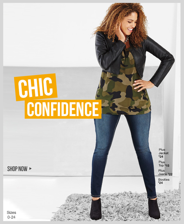 CONFIDENT CHIC! New Fashion styles in our plus collection! SHOP NOW!