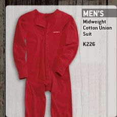 Men's Midweight Cotton Union Suit