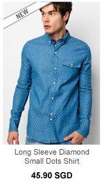 Chuck and Bo Long Sleeve Diamond Shirt