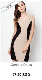 SOMETHING BORROWED Contour Dress
