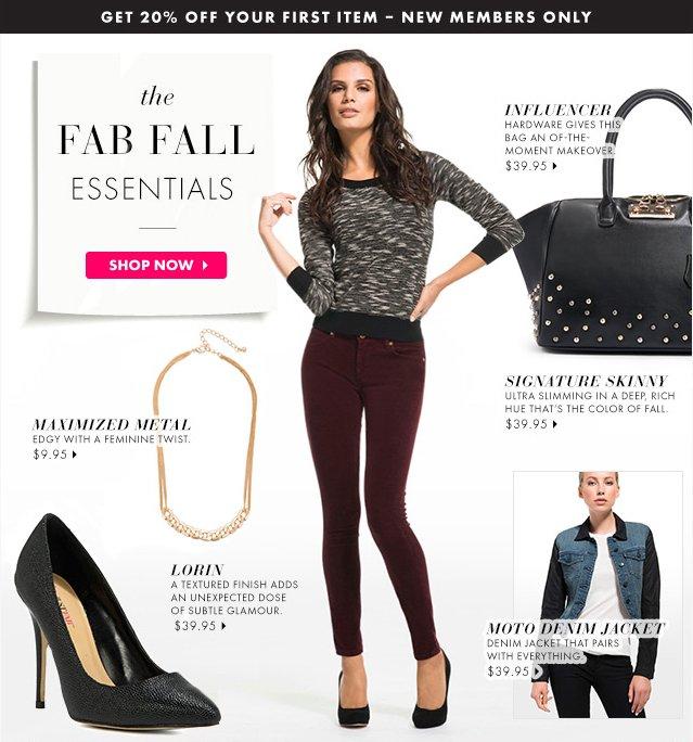 Fab Fall Essentials