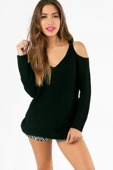 COLD SHOULDER OVERSIZED SWEATER 43