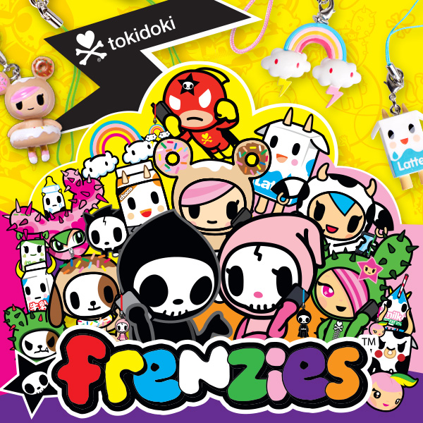 20 of our most popular tokidoki characters are now available in Frenzie form and come with a key chain and Phonezie attachment, making them a super cute accessory and companion on all your journeys!