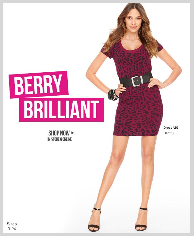 BERRY BRILLIANT! Chic and versatile styles in the HOTTEST Fall shade! In-stores and online! SHOP NOW!