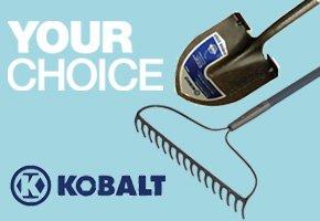 Your Choice: Kobalt Rake or Shovel