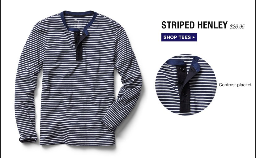 STRIPED HENLEY | SHOP TEES