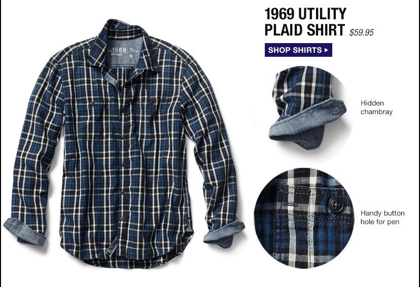 1969 UTILITY PLAID SHIRT | SHOP SHIRTS