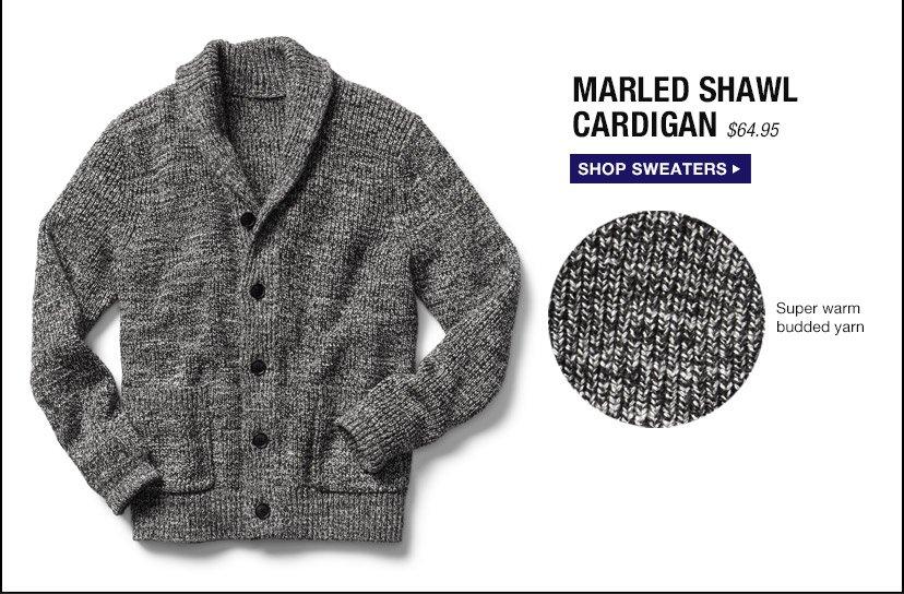 MARLED SHAWL CARDIGAN | SHOP SWEATERS