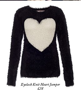 Eyelash Knit Heart Jumper