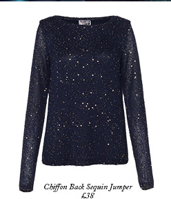 Chiffon Back Sequin Jumper