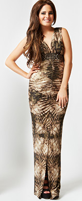 Binky Soho Animal Print Maxi Dress