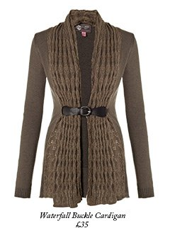 Waterfall Buckle Cardigan