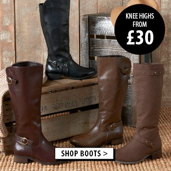 AUTUMN BOOTS - Knee Highs from only £30