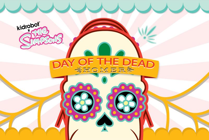 Kidrobot x The Simpsons.  Day of The Dead Homer