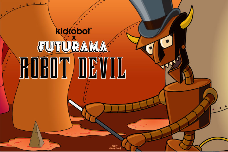 kidrobot x Futurama Robot Devil