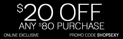 Take $20 off any $80 purchase