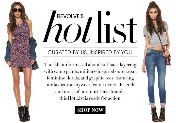 Revolve's Hot List