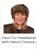 Faux Fur Headband with Velcro Closure