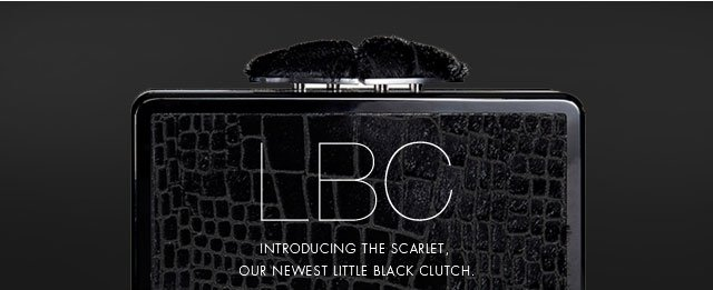 LBC | Introducing the Scarlet, our newest little black clutch.
