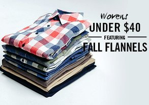 Shop Wovens Under $40 ft. Fall Flannels