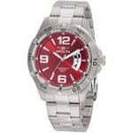 Invicta 0084 Men's Invicta II Swiss Stainless Steel Red Dial Watch