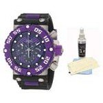 Invicta 10042 Men's Subaqua Nitro Diver Purple Bezel Black and Purple Dial Chronograph Watch with Ultimate Watch Care Kit