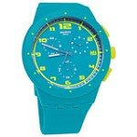 Swatch SUSL400 Unisex Acid Drop Chrono Plastic Blue Dial Watch