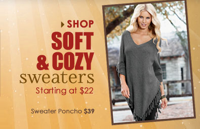 Shop Sofy and Cozy Sweaters