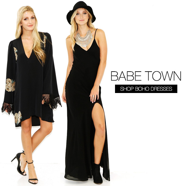 Boho dresses are at BTY.