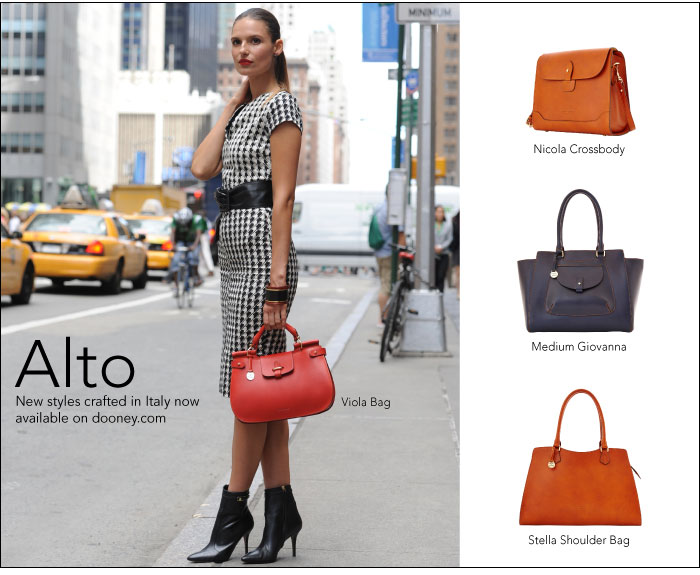 Alto - new styles crafted in Italy now available on dooney.com
