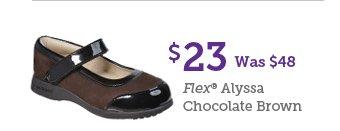 $23 Was $48 Flex Alyssa Chocolate Brown