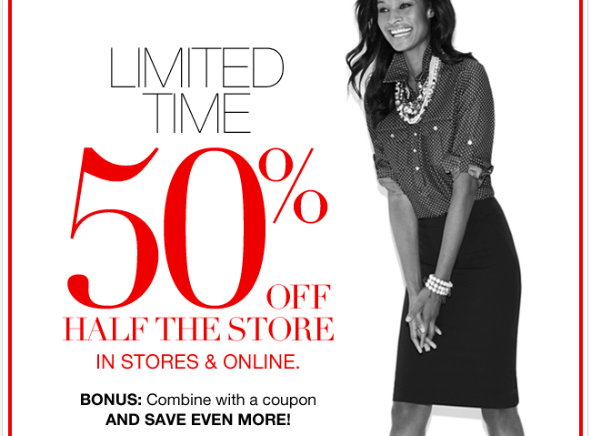 Limited Time: 50% Off Half the Store. Plus, Unbelievable NY Deals!