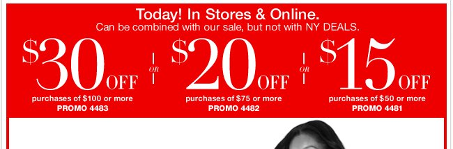 Up to $30 Off In Stores & Online!