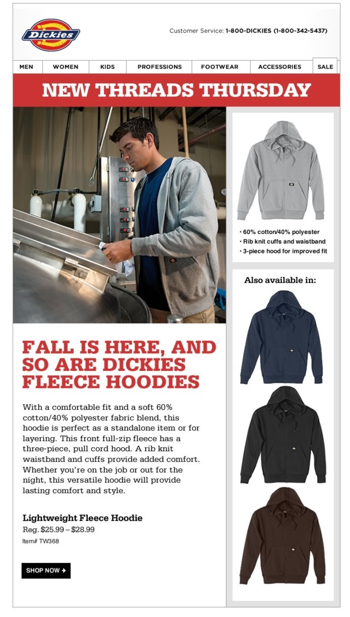 New Threads Thursday: Lightweight Fleece Hoodies
