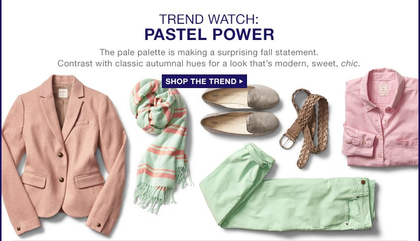TREND WATCH: PASTEL POWER | SHOP THE TREND