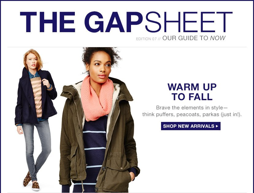THE GAPSHEET | WARM UP TO FALL | SHOP NEW ARRIVALS